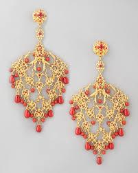 clip on chandelier earrings lyst jose barrera filigree chandelier clip earrings in