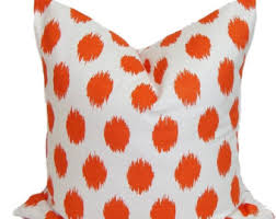 orange couch pillow etsy