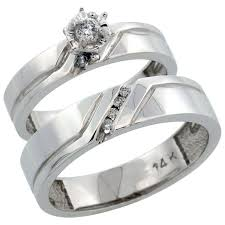 wedding ring sets his and hers white gold 14k white gold diamond jewelry wedding engagement sets his