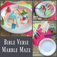 bible verse marble maze path through the narrow gate