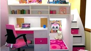 girls loft bed with a desk and vanity girls loft bed with desk wooden bunk designs a and vanity jameso