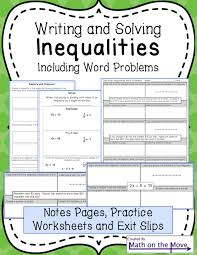 writing solving and graphing one two and multi step inequalities including