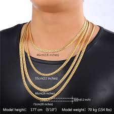 necklace gold man images Buy u7 classic snake chain bracelet and necklace jpg