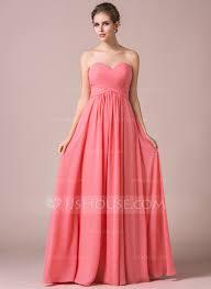 a line princess sweetheart floor length chiffon bridesmaid dress