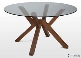 round walnut dining table contemporary round glass walnut dining table mikado ez living