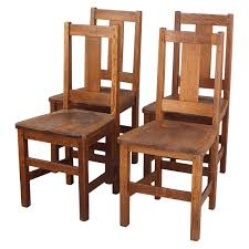 set of four signed arts and crafts limbert chairs at 1stdibs