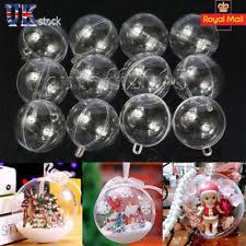 plastic clear tree ornaments ebay