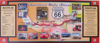 Old Route 66 Map by Route 66 Map Wandering Through Time And Place