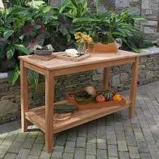 Bbq Tables Outdoor Furniture by Teak Dining Tables Berwick Console Table Country Casual