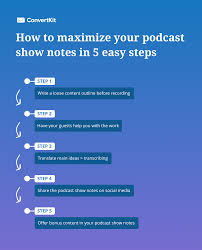 5 easy steps to create better podcast show notes
