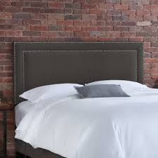 Full Fabric Headboard by Buy Nail Button Linen Upholstered Headboard Color Linen Charcoal