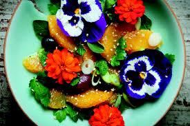 edible flower garnish fresh flower salad for vegetable gardener