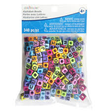 find the bright alphabet cube beads by creatology at michaels