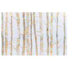 birch tree wrapping paper gold birch trees canvas wall decor hobby lobby 977991