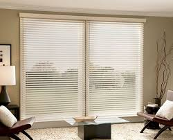 Horizontal Blinds For Patio Doors Faux Wood Blinds Sliding Glass Door Interior Design Ideas