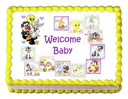 looney tunes baby shower baby shower baby looney tunes party decoration edible cake