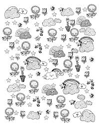 happy doodles doodling doodle art coloring pages for adults
