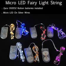 tiny battery operated lights 100pcs lot 2cr2032 small battery operated string led light 2m 20