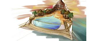 tropical island paradise yacht island design concepts themed yacht creators luxury