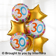 helium birthday balloons 30th birthday helium balloon bouquet parkwood florists poole