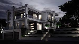 3d architektur visualisierung 3d architekturvisualisierung lichtstudie nachts