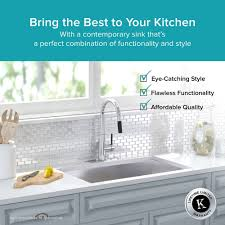Both Sides Of Kitchen Sink Clogged by Stainless Steel Kitchen Sinks Kraususa Com