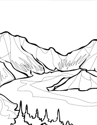 crater lake coloring page handipoints