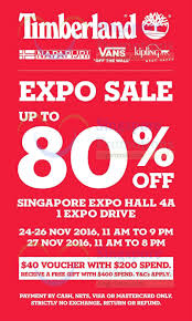timberland expo sale offers up to 80 at singapore expo from