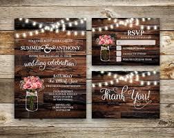 cheap rustic wedding invitations rustic wedding invitation etsy