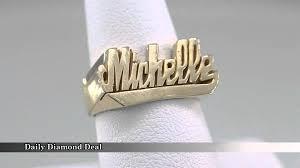 gold name ring 14k yellow gold womens name ring