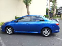 2010 toyota corolla s blue 2010 toyota corolla s with blue streak paint yelp