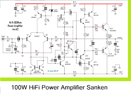 2 1 home theater circuit diagram 100w hifi power amplifier circuit with sanken is more powerfull