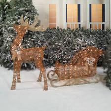Outdoor Sleigh Decoration Outdoor Santa Sleigh Ebay