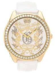 montre guess bracelet cuir images Guess u95024l2 en stock montre guess femme bracelet cuir blanc ca jpg