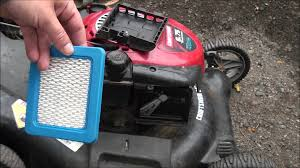 briggs and stratton how to change the air filter in my lawnmower