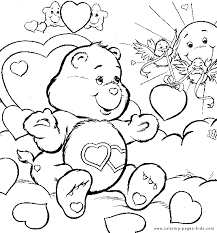 care bear color cartoon color pages printable cartoon