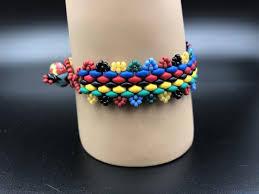 colored bead bracelet images Handmade multi colored red green blue black colorful bead bracelet jpg