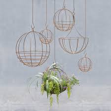 Modern Hanging Planter by Sphere Hanging Basket Terrain