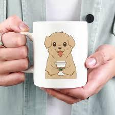golden retriever drink coffee cool mug dog funny coffee mugs 11