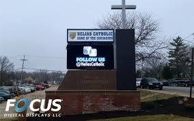 Led Screen Backsplash Led Signs Turnkey Solutions From Focus Digital Diplays