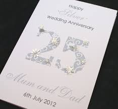 Mcdonalds Invitation Card Large Handmade Personalised 25th Silver Wedding Anniversary Card