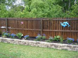 The Backyard by Raised Flower Bed Along Fence Raised Flower Garden Bed Good Idea