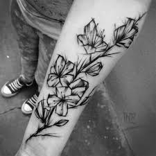 15 remarkable black ink tattoos abstract flower tattoos flower