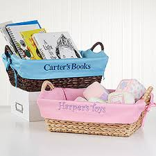 personalized basket personalized boys storage baskets blue kids gifts