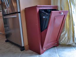 trash can attached to cabinet door ana white wood tilt out trash or recycling cabinet diy projects