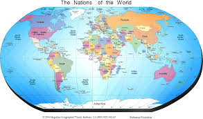 Maps Around The World by Map Of The World General Information