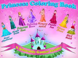 princess coloring book tabtale