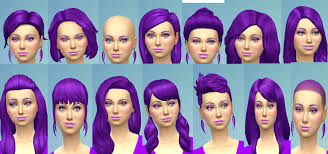 sims 4 blue hair mod the sims base game only recoloured female hair eyebrow set in