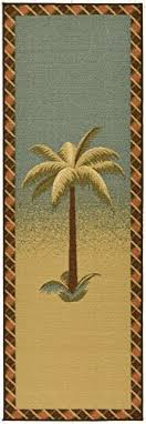 Palm Tree Runner Rug Tropical Rug