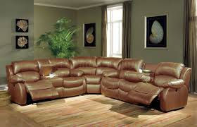 Sectional Reclining Sofas Leather Reclining Sectional Sleeper Sofa Luxury Furniture Brown Leather